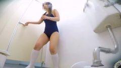 University Swimsuit Universitygirl Pissing Herself Vol.3