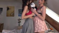 Upskirt No Panties And Mini Thong Whore Wedgies Day With Provocative Lola And Denisa