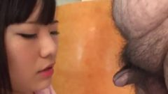 Jav Amateur Hara Chitose Does Uncensored Threesome Bukakke As She Bang's